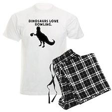 Dinosaurs Love Bowling Pajamas