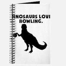 Dinosaurs Love Bowling Journal