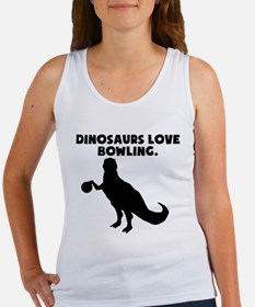 Dinosaurs Love Bowling Tank Top