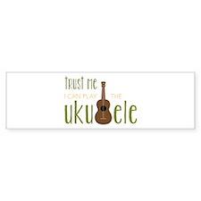 Play The Ukuele Bumper Bumper Sticker