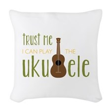 Play The Ukuele Woven Throw Pillow