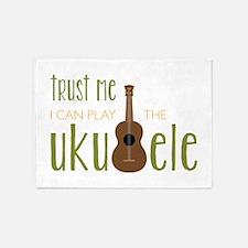 Play The Ukuele 5'x7'Area Rug