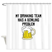 Bowling Problem Shower Curtain