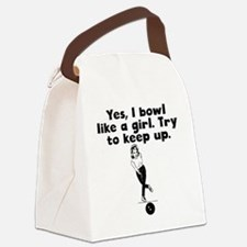 I Bowl Like A Girl Canvas Lunch Bag