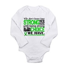 Lymphoma HowStrongWeAr Long Sleeve Infant Bodysuit