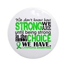Lymphoma HowStrongWeAre Ornament (Round)