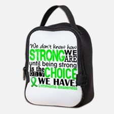 Lymphoma HowStrongWeAre Neoprene Lunch Bag