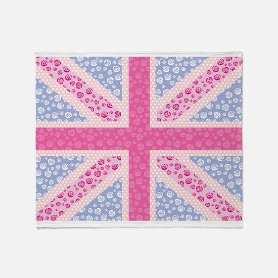 English Rose Throw Blanket