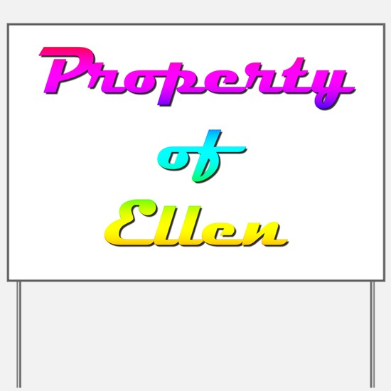 Property Of Ellen Female Yard Sign