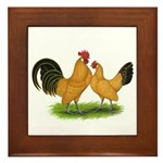BT Buff Dutch Bantams Framed Tile