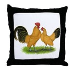 BT Buff Dutch Bantams Throw Pillow