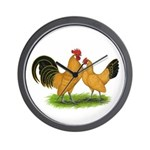 BT Buff Dutch Bantams Wall Clock