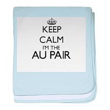 Keep calm I'm the Au Pair baby blanket