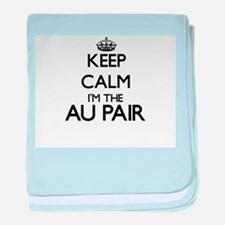 Keep calm I'm the Au Pair baby blanket