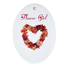 Flower Girl Oval Ornament