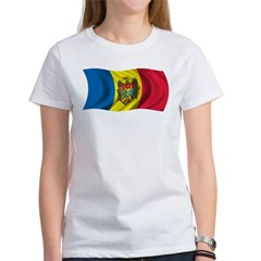 Wavy Moldova Flag Women's T-Shirt