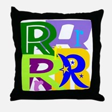 Initial Design (R) Throw Pillow