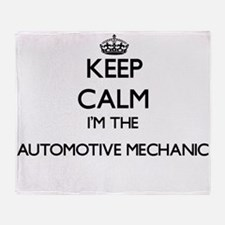 Keep calm I'm the Automotive Mechani Throw Blanket
