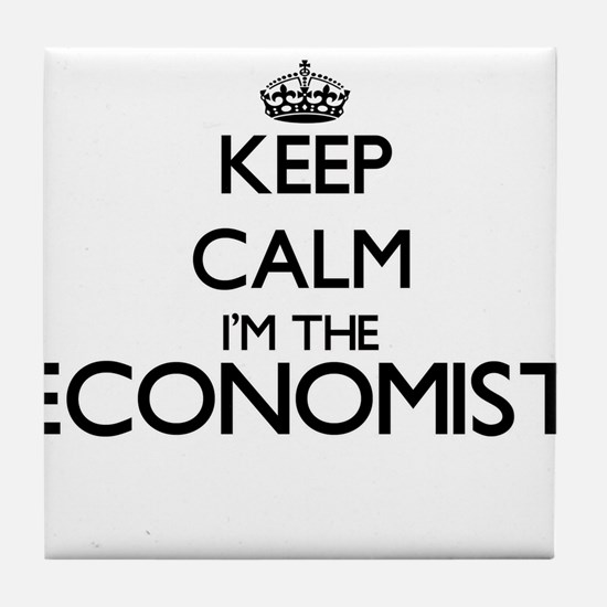 Keep calm I'm the Economist Tile Coaster