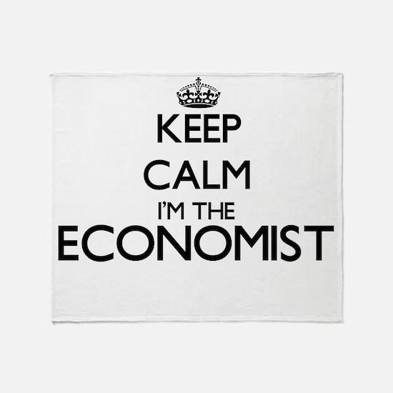 Keep calm I'm the Economist Throw Blanket