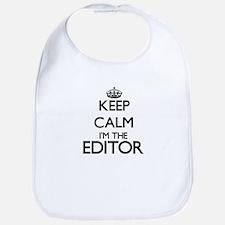 Keep calm I'm the Editor Bib