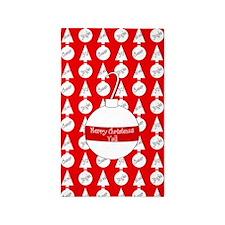 Merry Christmas Y'all Pop Art 3'x5' Area Rug