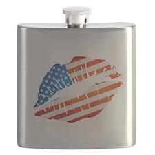 American Flag Lips Flask