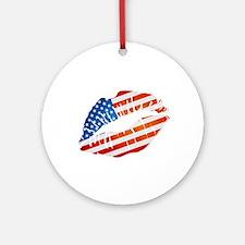 American Flag Lips Ornament (Round)