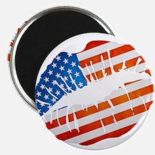 American Flag Lips Magnets
