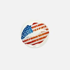 American Flag Lips Mini Button
