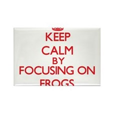 Keep Calm by focusing on Frogs Magnets