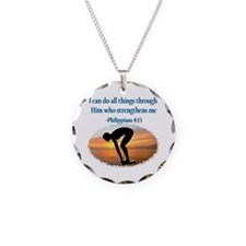 CHRISTIAN SWIMMER Necklace Circle Charm