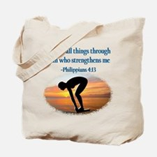 CHRISTIAN SWIMMER Tote Bag