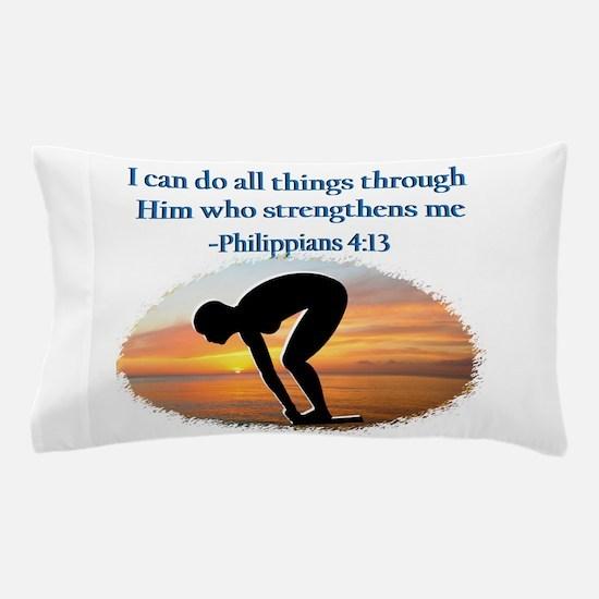 CHRISTIAN SWIMMER Pillow Case