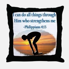 CHRISTIAN SWIMMER Throw Pillow