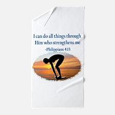 CHRISTIAN SWIMMER Beach Towel