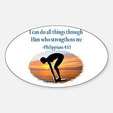CHRISTIAN SWIMMER Sticker (Oval)