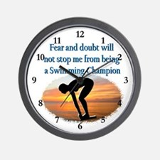 SWIMMER DREAMS Wall Clock