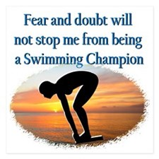 SWIMMER DREAMS 5.25 x 5.25 Flat Cards
