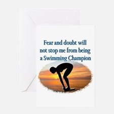 SWIMMER DREAMS Greeting Card