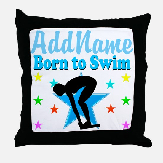 1ST PLACE SWIMMER Throw Pillow