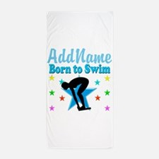 1ST PLACE SWIMMER Beach Towel