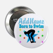 """1ST PLACE SWIMMER 2.25"""" Button"""