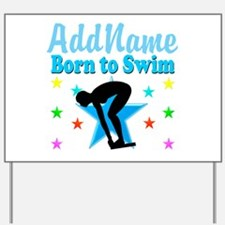 1ST PLACE SWIMMER Yard Sign