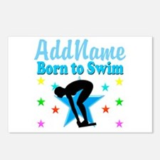 1ST PLACE SWIMMER Postcards (Package of 8)