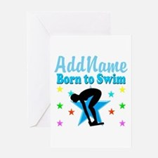 1ST PLACE SWIMMER Greeting Card
