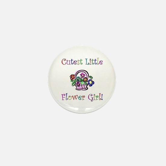 Cutest Little Flower Girl Mini Button
