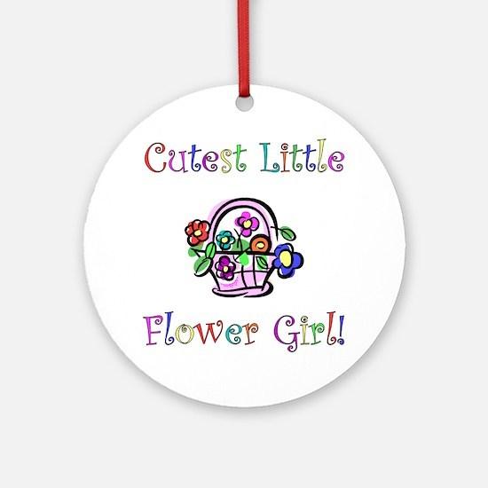 Cutest Little Flower Girl Ornament (Round)