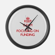 Keep Calm by focusing on Funding Large Wall Clock