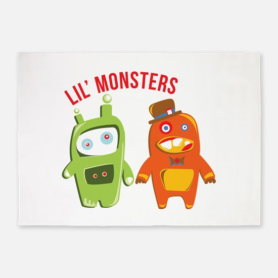 Lil Monsters 5'x7'Area Rug